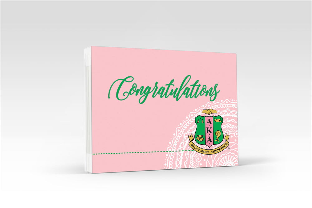 AKA Congratulations Notecard Set
