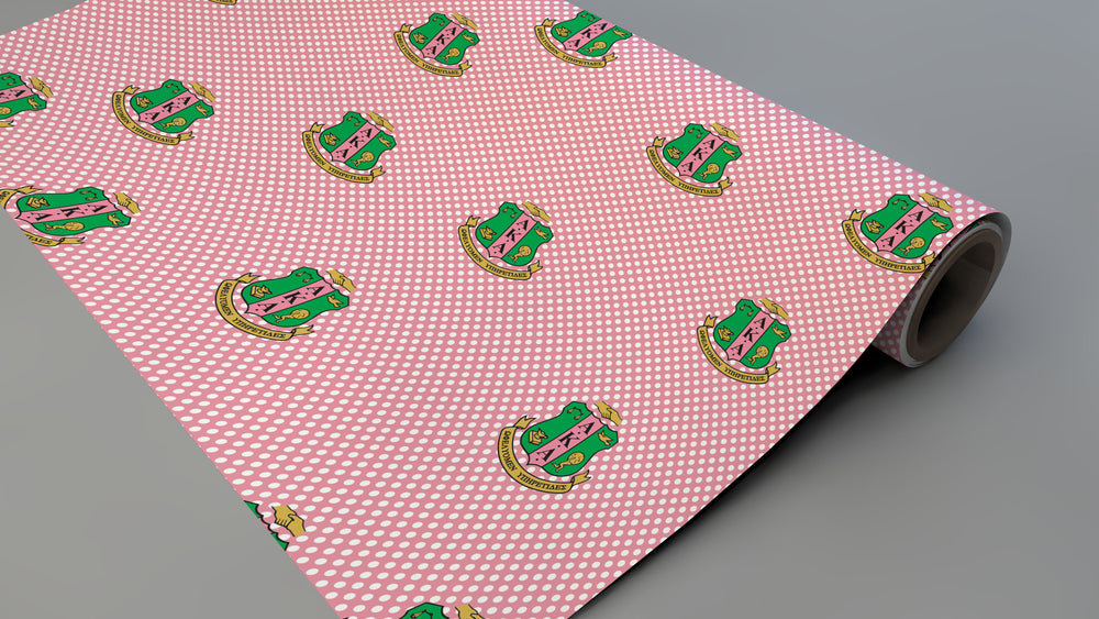 Polka Dotted Soror Wrapping Paper