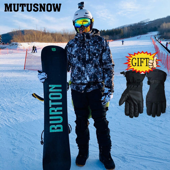 Men's Ski Suit 2020 New Outdoor Warm Waterproof Windproof Breathable Male Winter Snowboard Jacket And Pants Snow Suit Set Brands