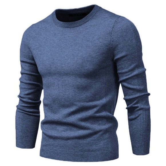 2020 New O-neck Pullover Men's Sweater Casual Solid Color Warm Sweater Men Winter Fashion Slim Mens Sweaters 11 Colors