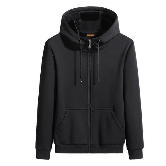 Spring autumn thin open-body men's solid color casual zipper hoodie sweater men's top sports Korean jacket