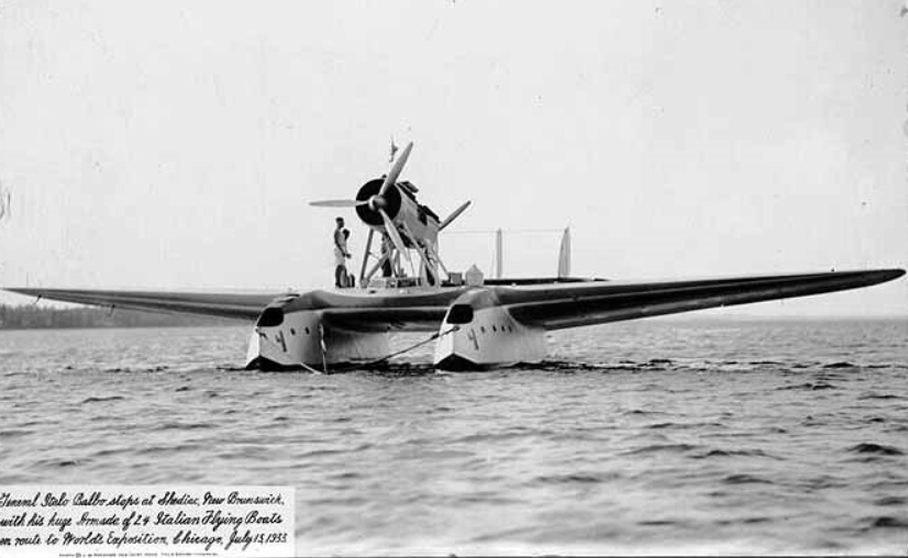 S-55 Flying Boat in Shediac Bay July 15_ 1933