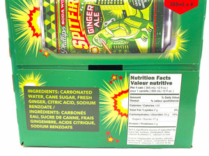 ingredients list and nutrition facts for spitfire ginger ale