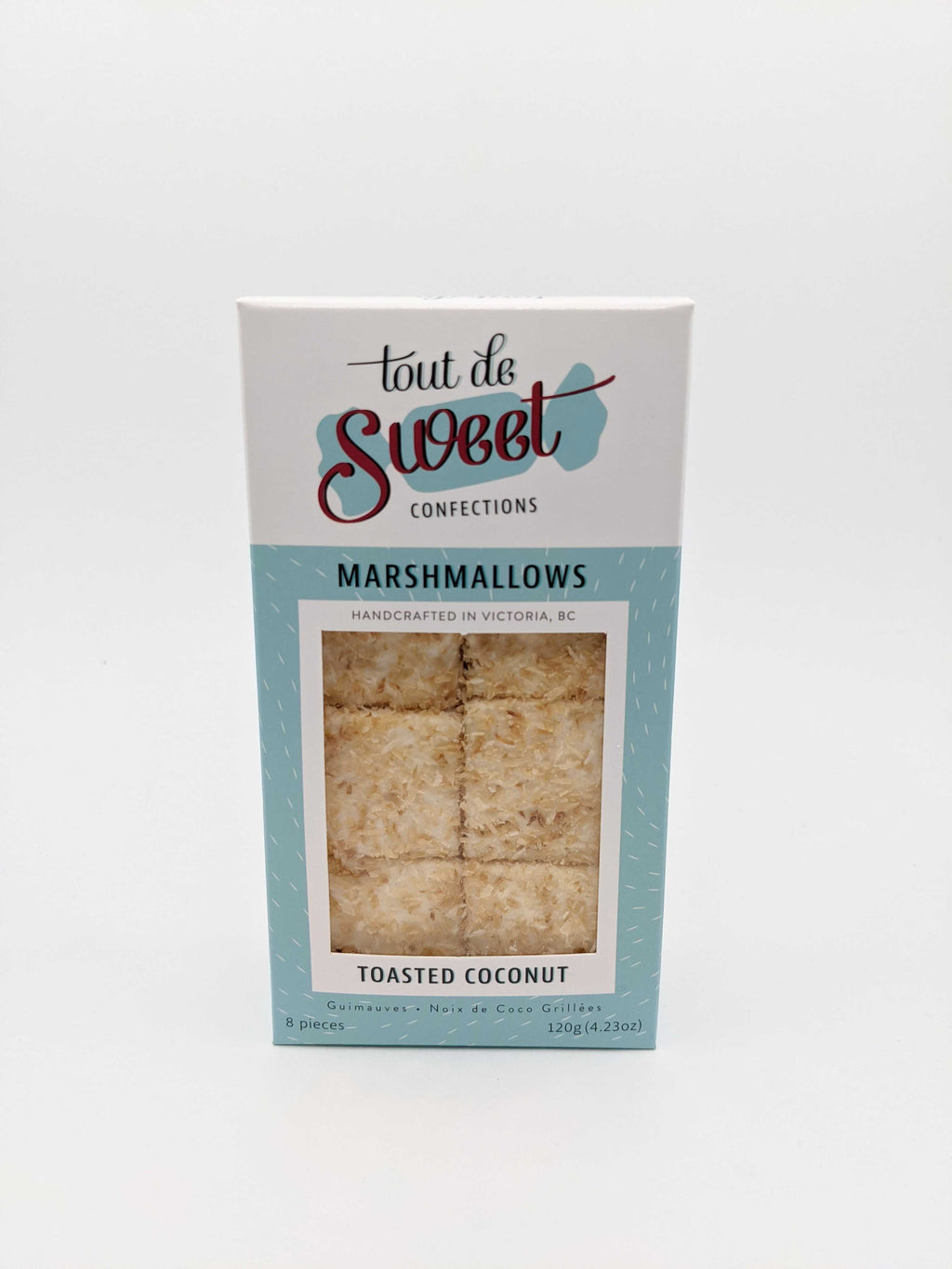 Box of Tout de Sweet Confections Toasted Coconut Marshmallows