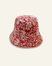 Load image into Gallery viewer, Red Floral Bucket Hat