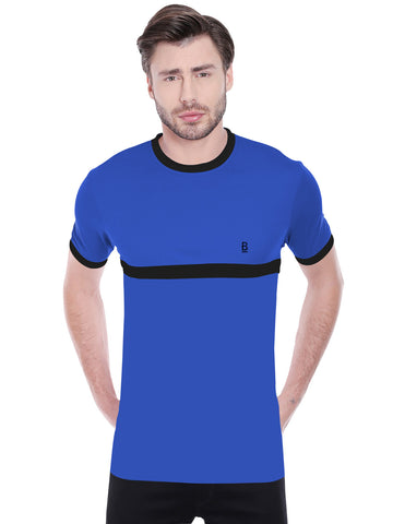 ACTIVE DRY STRIPE PATTERN TSHIRT - BLUE
