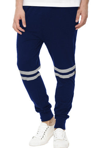 Navy Stripe Track Pants