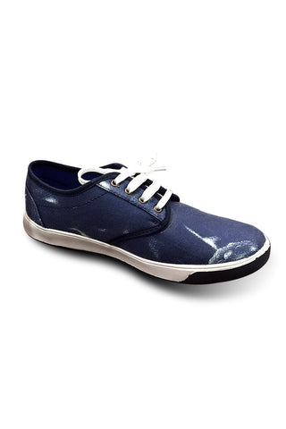 Blue Print Canvas Shoe