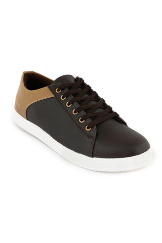 Brown/ Sand Leather Lace Shoe