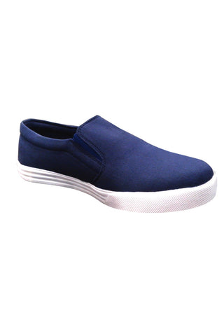 Navy Blue Canvas Slip on shoes