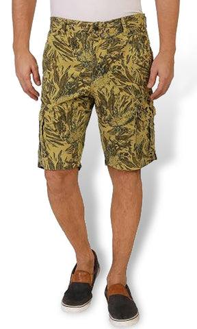 Yellow Camouflage Cotton Shorts