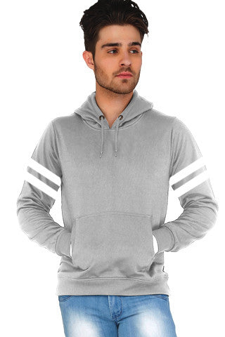 Grey Hoodie with stripes
