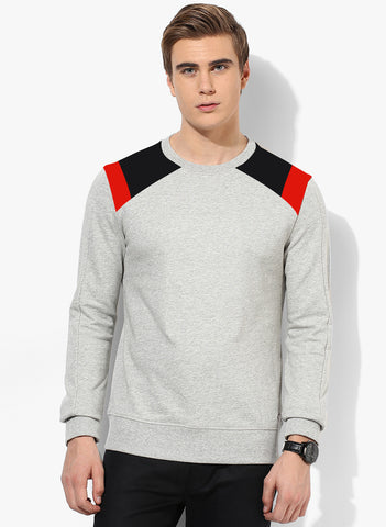 SHOULDER PATCH SWEATSHIRT