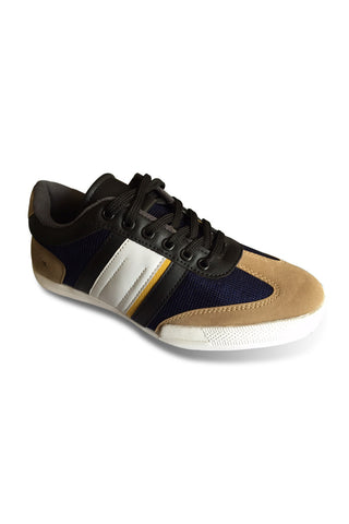 Fashion Sneakers - Navy / Brown Band