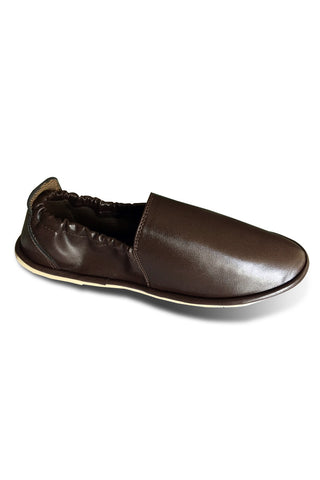 Brown Leather Slips