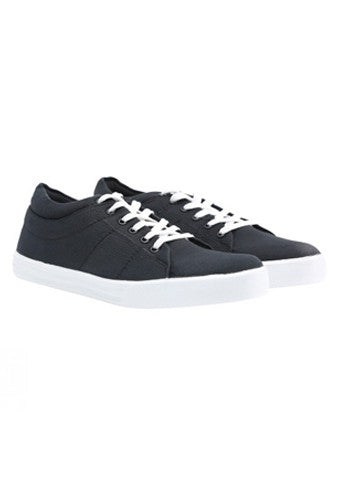 Canvas Lace Shoe - Black
