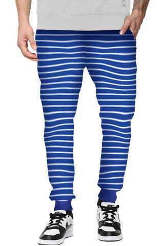 Blue Stripe Jacquard Track Pants