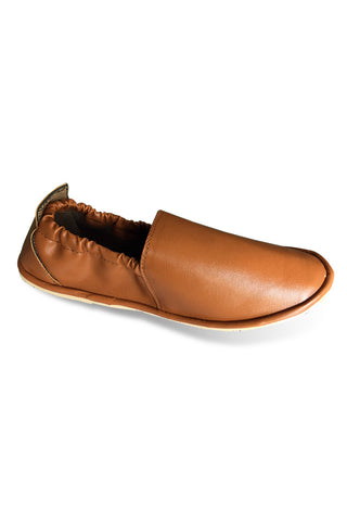 Tan Leather Slips
