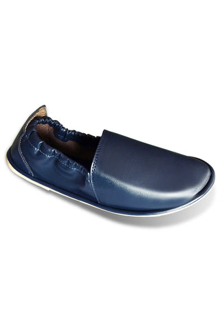 Blue Leather Slips
