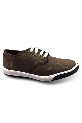 Brown Print Canvas Shoe