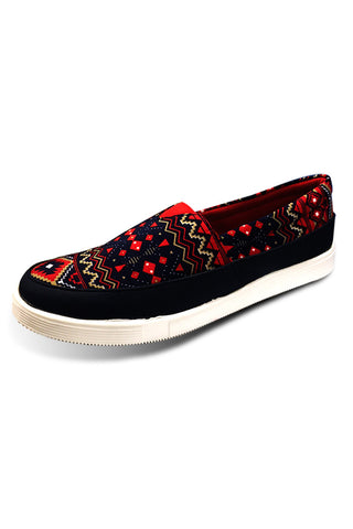 Red Aztec Slip on Shoe