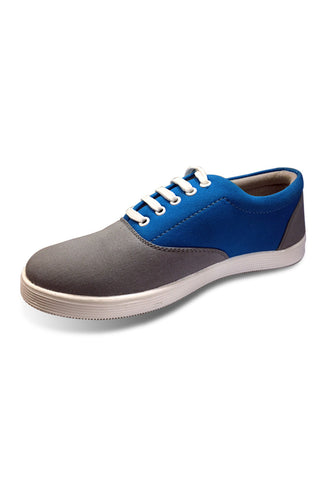 Grey/Blue Canvas Lace Shoe