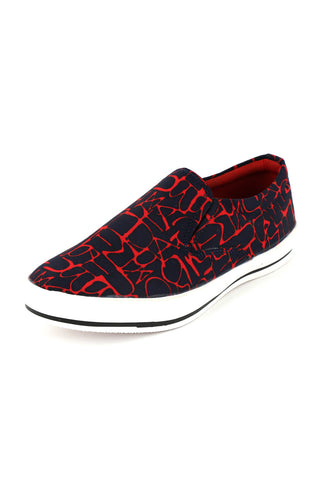 Red Abstract Printed Casual  Shoes