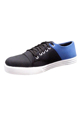 Blue/Black double color lace shoes