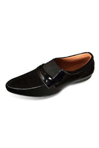 Black Patent Slip ON