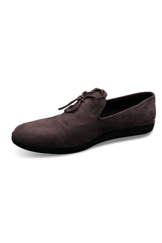 Brown Suede Knot Loafer