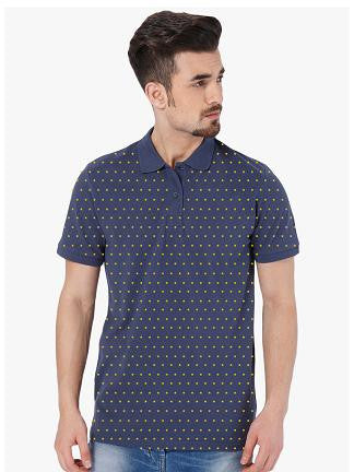 Micro Star Printed Polo Tshirt