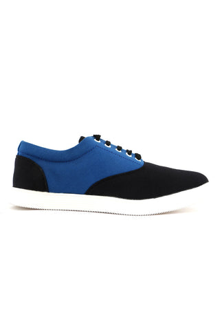 Black/Blue Canvas Lace Shoe