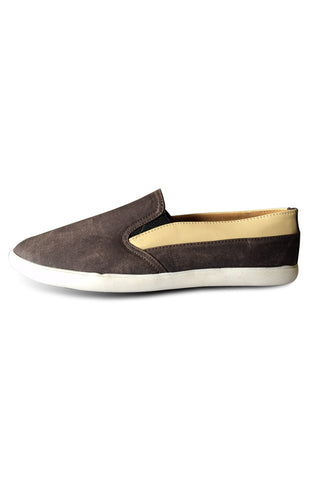 Textured Brown Slip on Shoe