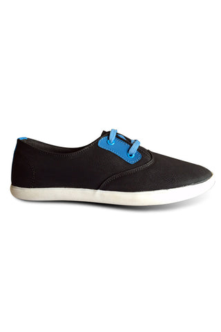 Black with Blue Lace Shoe