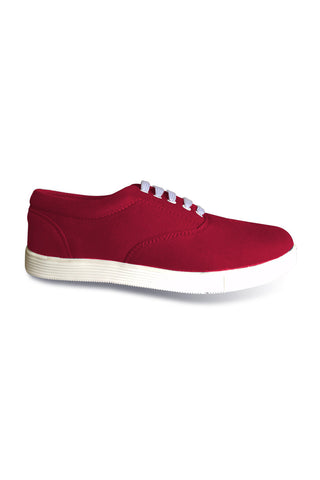 Maroon LT Lace Canvas Shoes