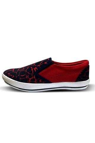 Red Ab Printed Casual  Shoes