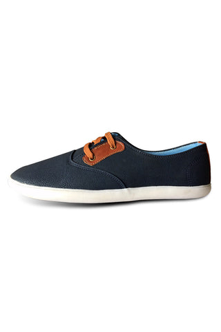 Navy with Brown Lace Shoe
