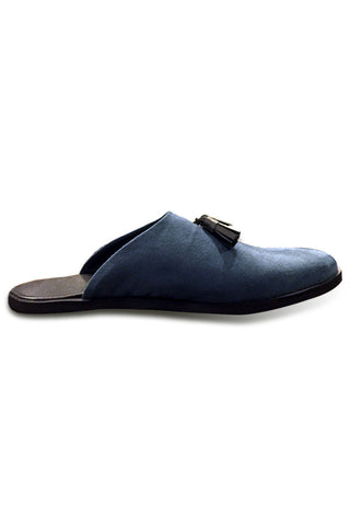 Navy Slippers with tassels