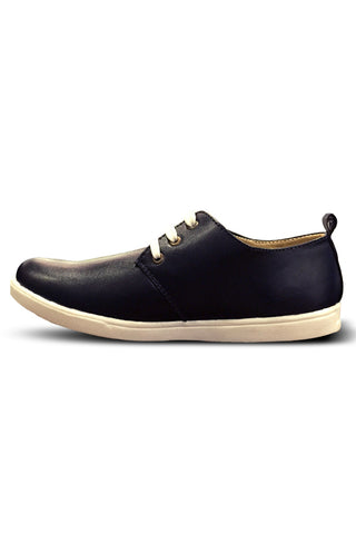 Black Leather Casual Shoe