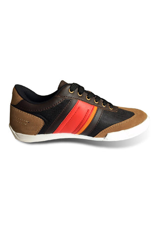 Fashion Sneakers - Black / Tan