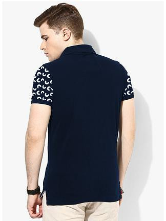 Half Circle Allover Printed Polo Tshirt