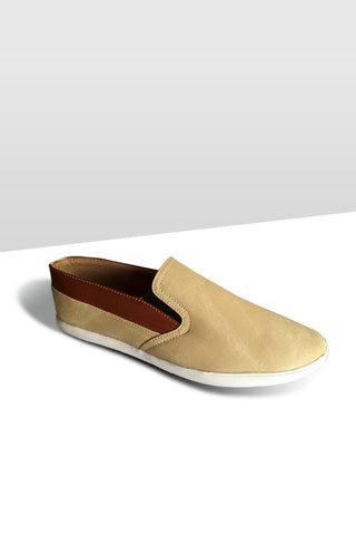 Tan with Brown Slip on Shoe