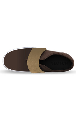 Coffee / Brown Band Leather Slip on Shoe