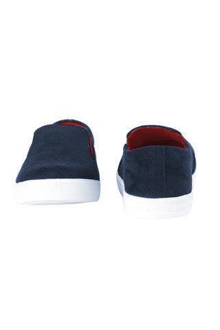Suede Slip On Shoes- Blue