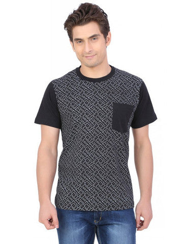 GEOMETRIC ALLOVER PRINTED T-SHIRT
