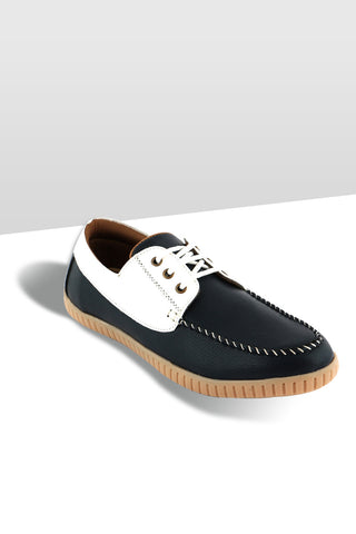 Blue/White Boat Shoe