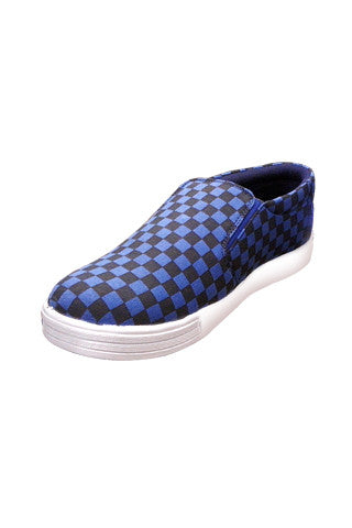 Blue/Black check shoes