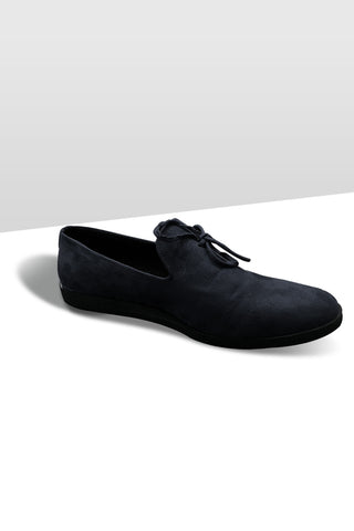Black Suede Knot Loafer