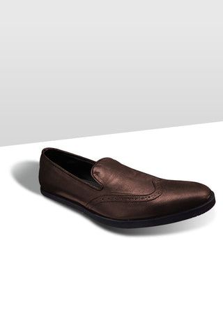 Brown Brogue Leather Shoes