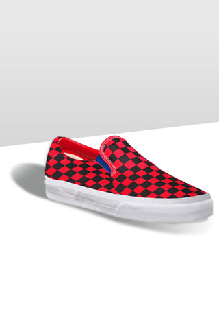 Slip On Canvas Shoe - Red Checks